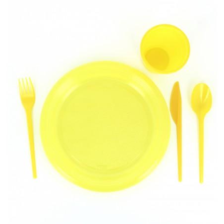 Faca de Plastico Grande Amarelo PS 165 mm (15 Uds)