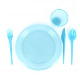 Faca de Plastico Grande Azul PS 165 mm (900 Uds)