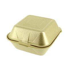 Embalagem Foam Hamburguer Grande Ouro (500 Uds)