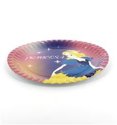 Prato Cartão Disenho Princesa 18 cm (12 Unidades)