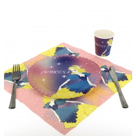 Prato Cartão Disenho Princesa 23 cm (504 Unidades)