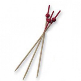 Pick Bambu Decorado Bola Vermelho 90mm (10000 Unidades)