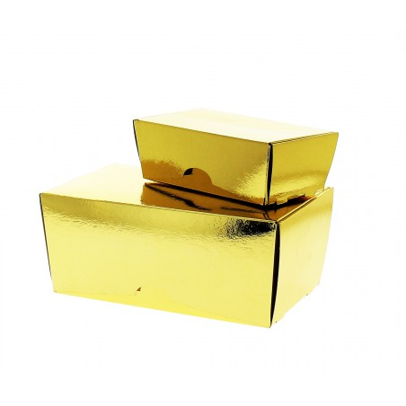 Caixa Bombons e Doces Ouro 15x9x6,5cm 500g (100 Uds)