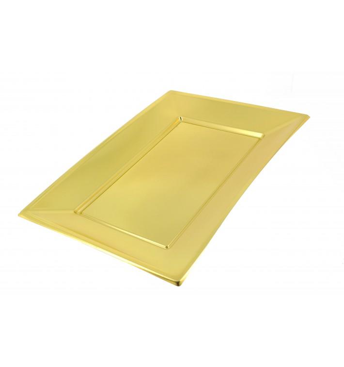 Bandeja de Plastico Ouro 330x230 mm (12 Uds)