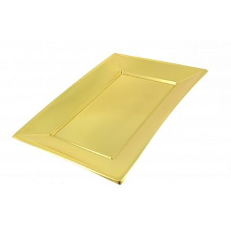 Bandeja de Plastico Ouro 330x225 mm (12 Uds)