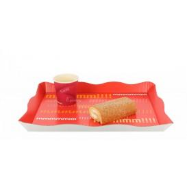 Bandeja para Catering o Fast Food Vermelho (200 Uds)