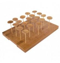 Suporte de Bambu para Picks 25x30x1,3cm (20 Uds)