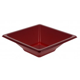 Tigela de Plastico PS Quadrada Bordeaux 12x12cm (25 Uds)