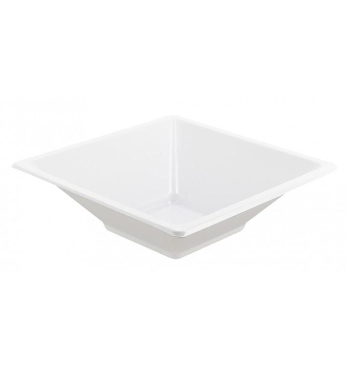 Tigela de Plastico PS Quadrada Branco 12x12cm (12 Uds)