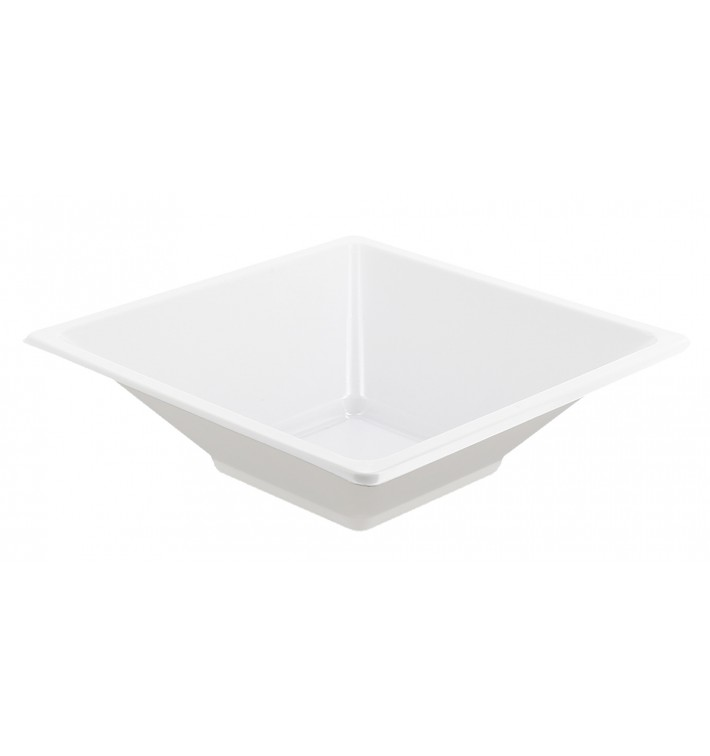 Tigela de Plastico PS Quadrada Branco 12x12cm (720 Uds)