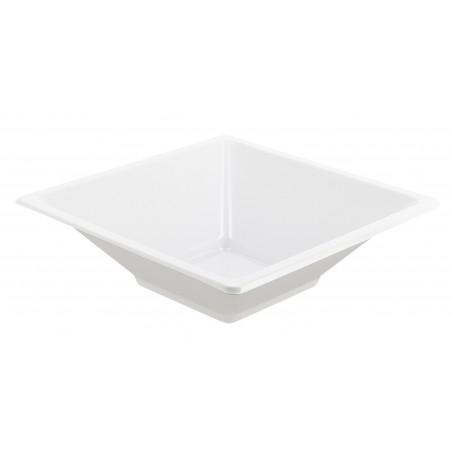 Tigela Plastico Quadrada Branco 120x120x40mm (360 Uds)