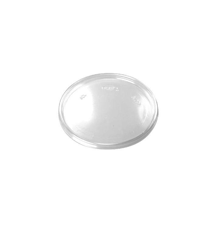 Tampa Plana Plastico Transparente Ø11cm (100 uds)