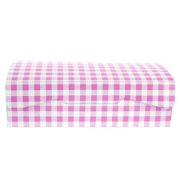 Caixa Pastelaria Rosa 17,5x11,5x4,7cm 250g (20 Uds)