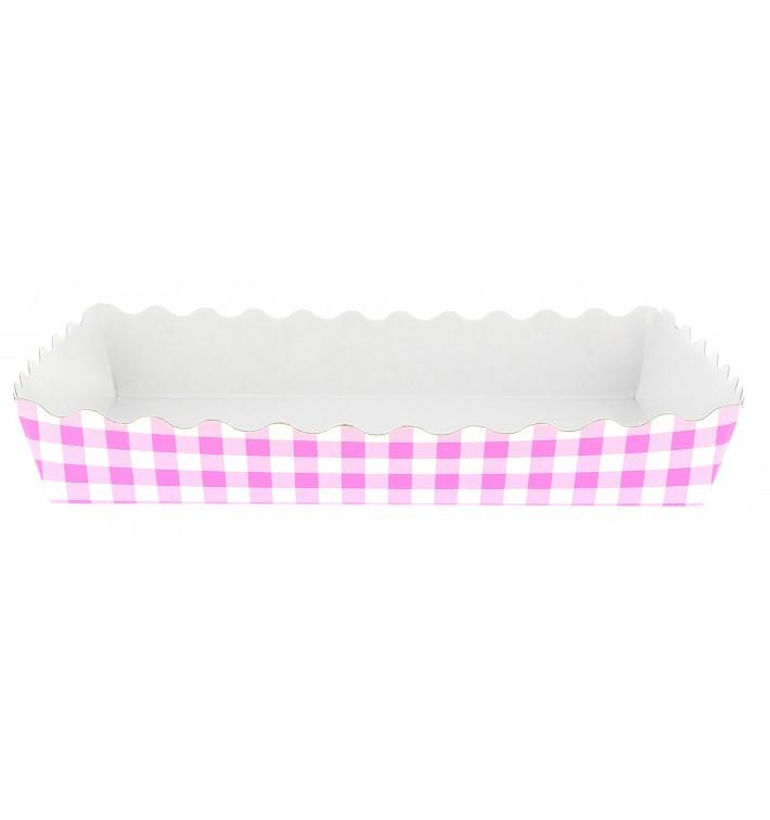 Bandeja Porta Waffle Aberta Rosa 18,2x12,2x3cm (25 Uds)