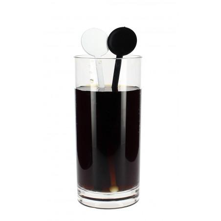 Agitador Bebidas de Plástico 175mm Preto (100 Uds)