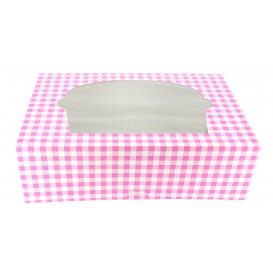Caixa 6 Cupcakes Rosa 24,3x16,5x7,5cm (20 Unidades)