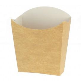 Caixa Batata Frita Pequeña Kraft 8,2x2,2x9cm (25 Uds)