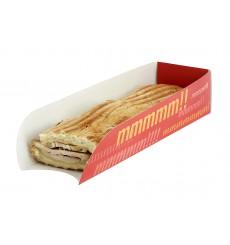 Porta Hot Dog Cartão 17x5x3,5cm (100 Unidades)