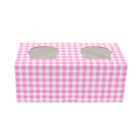 Caixa 2 Cupcakes Rosa 19,5x10x7,5cm (160 Unidades)