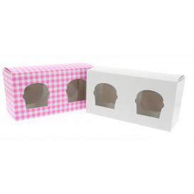 Caixa 2 Cupcakes Branco 19,5x10x7,5cm (160 Unidades)