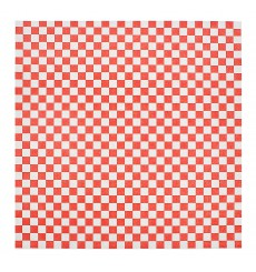 Papel Anti-Gordura Vermelho 31x31cm (1000 Unidades)