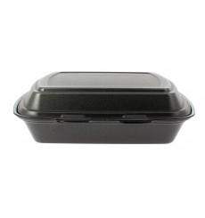 Embalagem Foam PortaMenus 3 Comp. Preto (250 Uds)