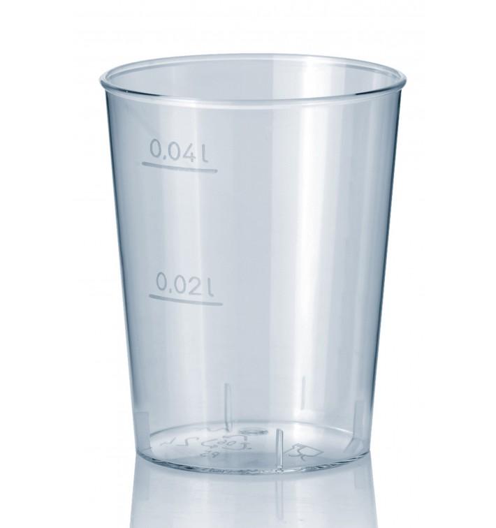 Copo Plastico Cristal Transparente PS 40ml (50 Uds)