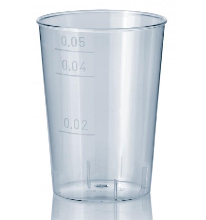 Copo Plastico Cristal Transparente PS 50ml (1.600 Uds)