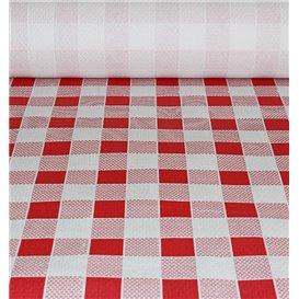 Toalha Papel Rolo Quadros Vermelhos 1x100m 40g (1 Ud)