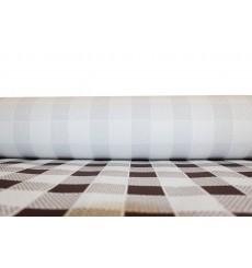 Toalha Papel Rolo Quadros Marrom 1x100m 40g (1 Ud)