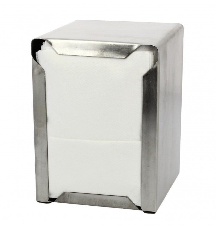 Dispensador Guardanapos Inoxidável Miniservis 17x17 (1 Ud)