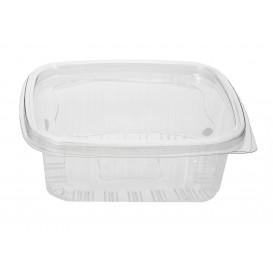 Embalagem Plastico Tampa Bisagra PET 370ml (80 Uds)