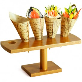 Stand de Bambu para 5 Cones (1 Uds)