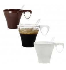 Chavena Plastico Café Curto 80ml Transparente (1.200 Uds)