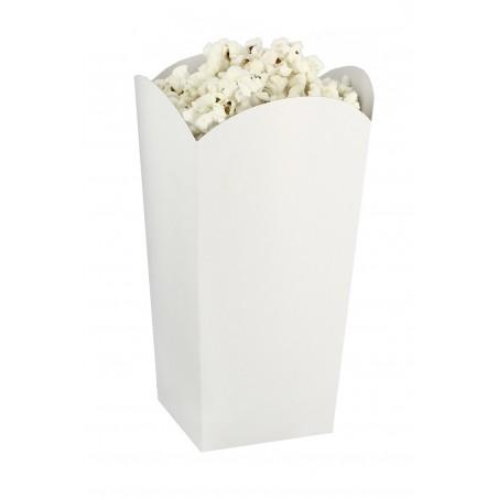 Caixa Pipocas Pequena Branca 45gr 6,5x8,5x15cm (25 Uds)