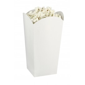Caixa Pipocas Pequena Branca 45gr 6,5x8,5x15cm (700 Uds)