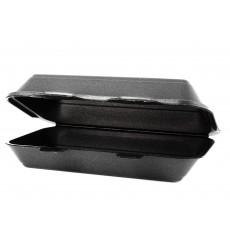 Embalagem Foam LunchBox Preto 240x155x70mm (500 Uds)