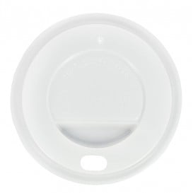 Tampa Perfurada Copo Branco 12Oz/384ml (1000 Uds)