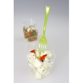 Garfo de Plastico Premium Verde 190mm (180 Uds)
