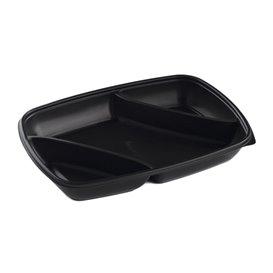 Embalagem Plástico 3C Preto 975ml 28x20x4cm (50 Uds)