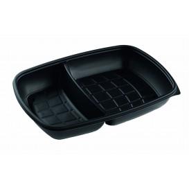 Embalagem Plástico 2C Preto 1300ml 28x20x4cm (50 Uds)