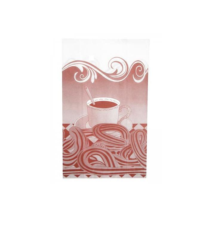 Saco de Papel Antigordura Churros 30+10x42cm (250 Uds)