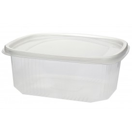 Embalagem Plastico Tampa Bisagra Micro 1000ml (50 Uds)