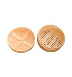 """Panela Cozimento a Vapor Bambú """"Maxi"""" Ø20x6cm (4 Uds)"""
