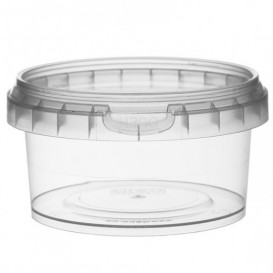 Embalagem Plastico Com Tampa Inviolável 210ml Ø9,5 (13 Uds)