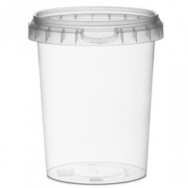 Embalagem Plastico Redondo inviolável 520ml Ø9,5 (190 Uds)