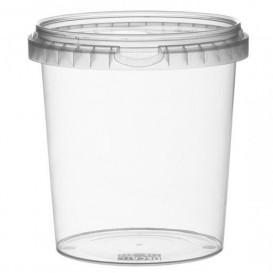 Embalagem Plastico Com Tampa Inviolável 870ml Ø11,8 (19 Uds)