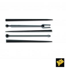 Pick de Plastico Snack Stick Preto 90 mm (6600 Unidades)