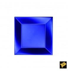 Prato Plastico Raso Azul Nice Pearl PP 180mm (25 Uds)