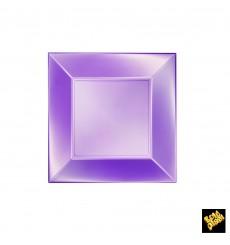 Prato Plastico Raso Violeta Nice Pearl PP 180mm (25 Uds)